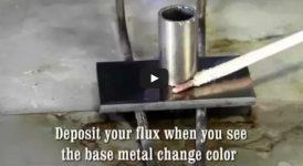 Запояване на стомана към неръждаема стомана със сребърен припой