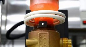 Индукционно запояване на мед към месинг